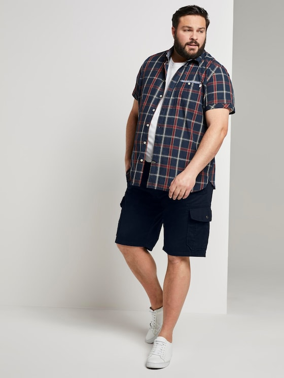 Cargo Morris Relaxed Bermuda Shorts - Männer - Sky Captain Blue - 3 - Men Plus
