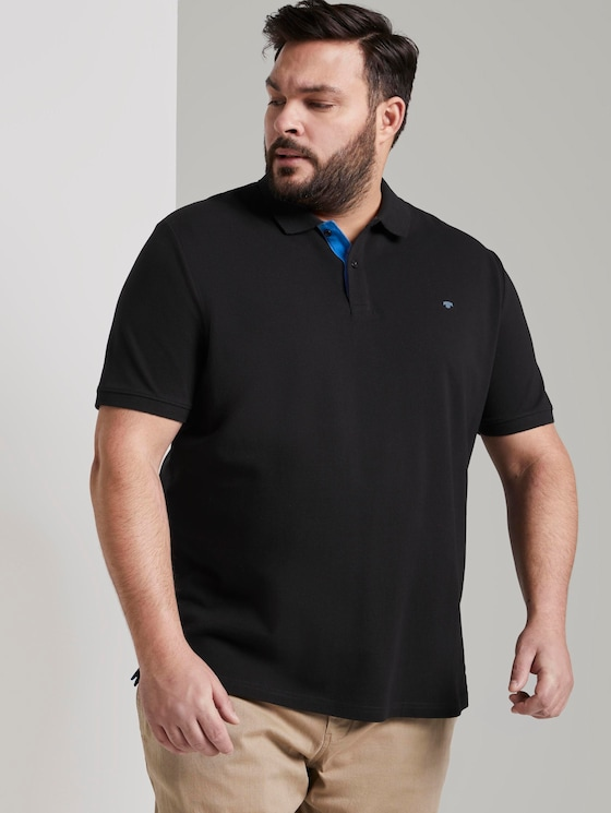 Polo shirt with an embroidered logo - Men - Black - 5 - Men Plus