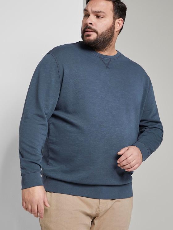 eenvoudige Sweater - Mannen - Sky Captain Blue - 5 - Men Plus
