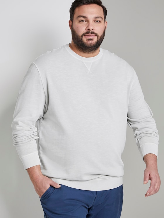Simple sweatshirt - Men - Silver Grey - 5 - Men Plus