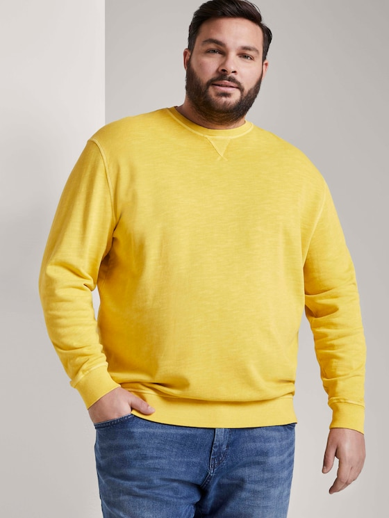 Simple sweatshirt - Men - Californian Yellow - 5 - Men Plus