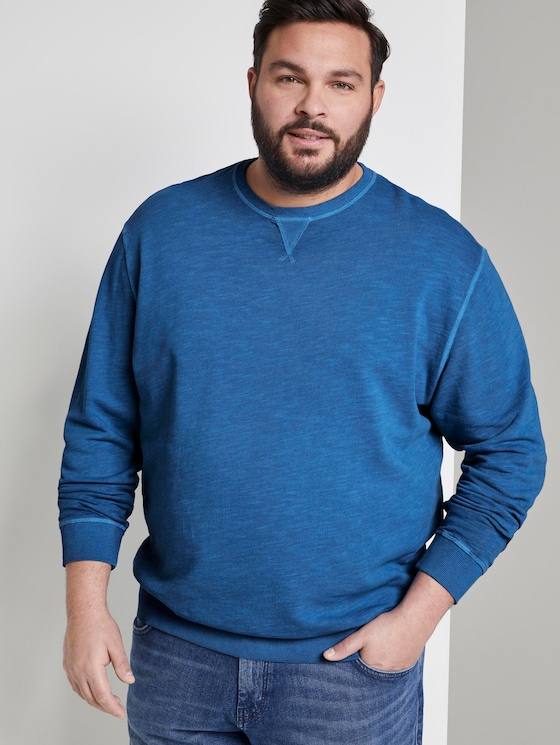 Simple sweatshirt - Men - victory-blue - 5 - Men Plus