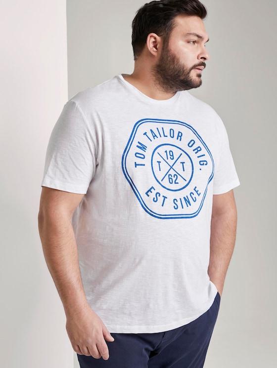 T-Shirt mit Print - Männer - White - 5 - Men Plus