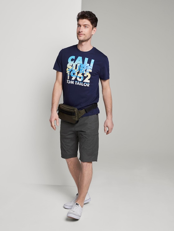 Josh Cargo Bermuda - Männer - grey mini geo design - 3 - TOM TAILOR