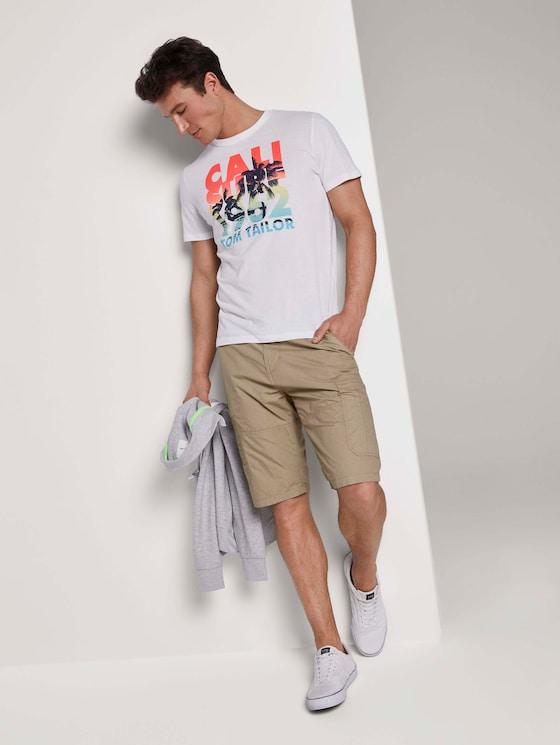 Josh Cargo Bermuda - Männer - beige mini geo design - 3 - TOM TAILOR