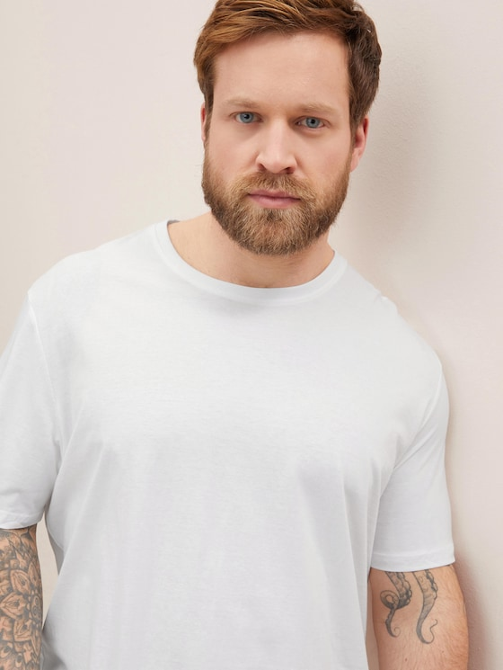 Doppelpack Basic T-Shirts - Männer - White - 5 - Men Plus