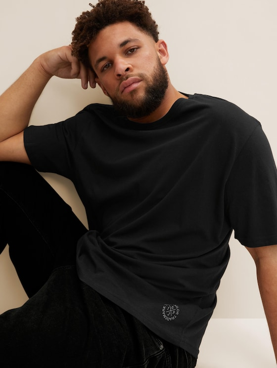 Basic T-Shirts im Doppelpack - Männer - Black - 5 - Men Plus