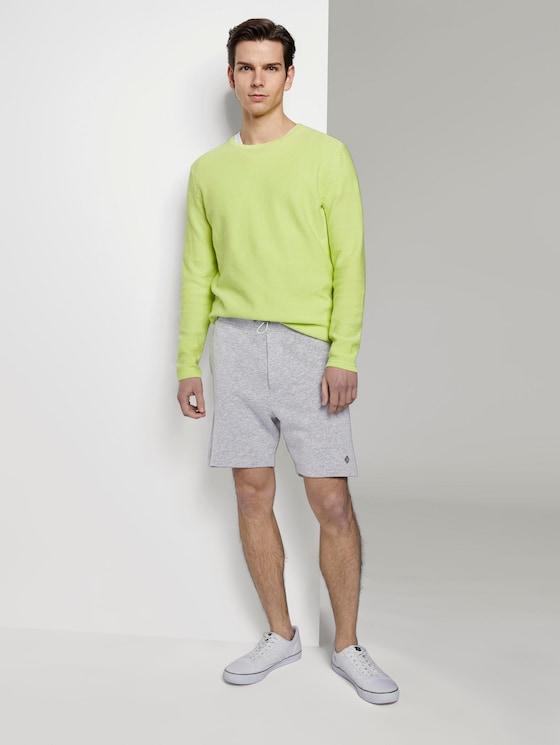 Sweat-Shorts in Melange-Optik - Männer - Light Stone Grey Melange - 3 - TOM TAILOR Denim