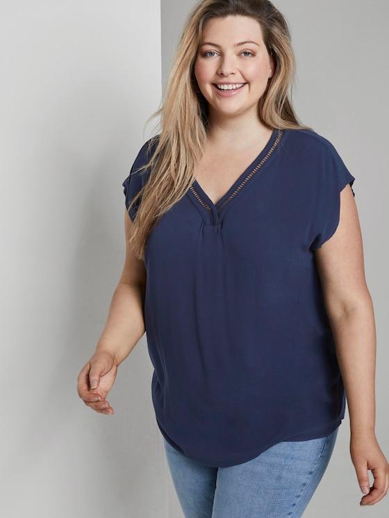 Bluse mit V-Ausschnitt - Frauen - Real Navy Blue - 5 - My True Me