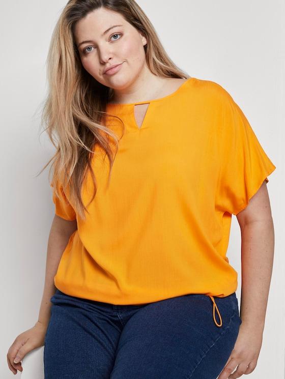 Bluse mit Tunnelzug - Frauen - bright mandarin - 5 - My True Me