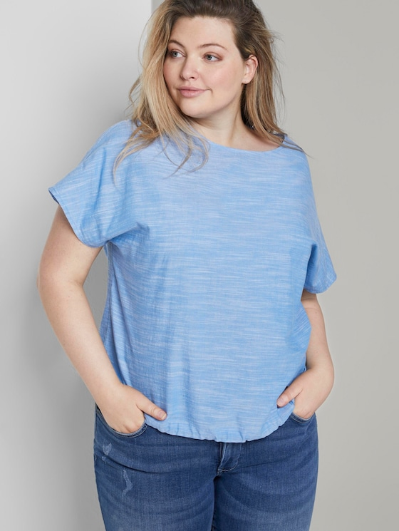 Chambray-Bluse - Frauen - Mid Blue Chambray - 5 - My True Me