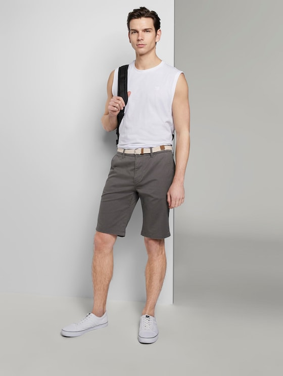 Chino shorts - Men - grey mini zig zag design - 3 - TOM TAILOR Denim