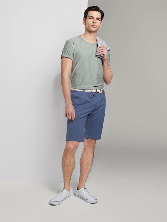 Chino Shorts - Männer - blue mini zig zag design - 3 - TOM TAILOR Denim