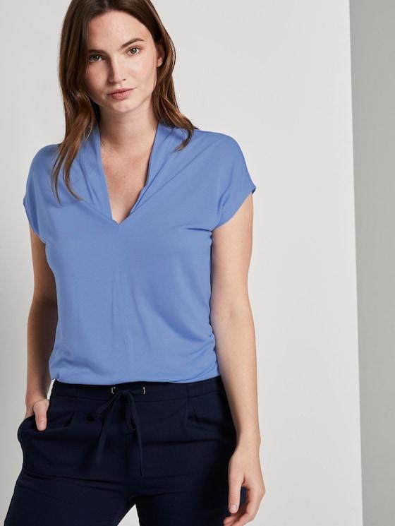 Feminines T-Shirt aus Lyocell - Frauen - dreamy blue - 5 - Mine to five