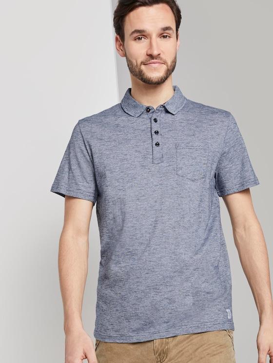 Gestreiftes Poloshirt - Männer - Navy Yarn-Dye Stripe - 5 - TOM TAILOR