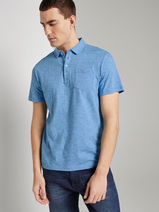 Gestreiftes Poloshirt - Männer - blue white fine line stripe - 5 - TOM TAILOR