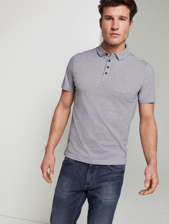Gestreiftes Poloshirt - Männer - light grey stripe - 5 - TOM TAILOR