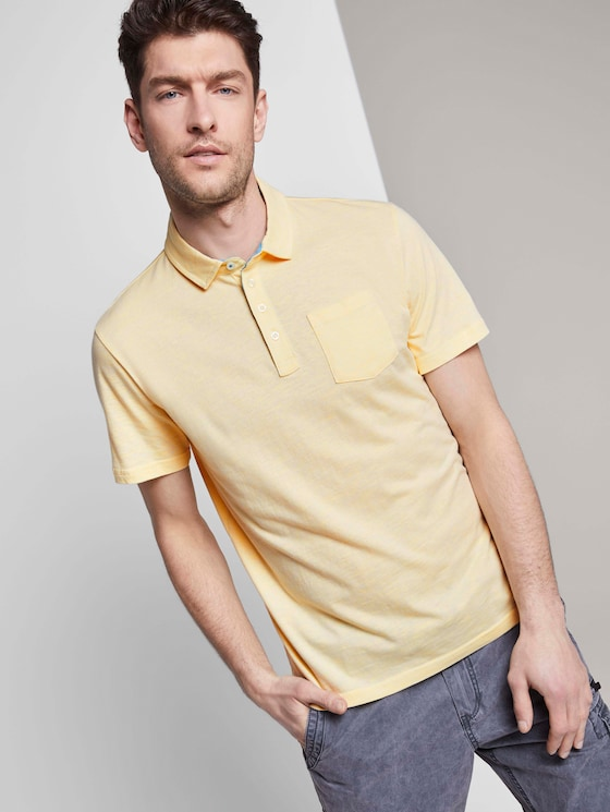 Gestreiftes Poloshirt - Männer - yellow fine stripe - 5 - TOM TAILOR