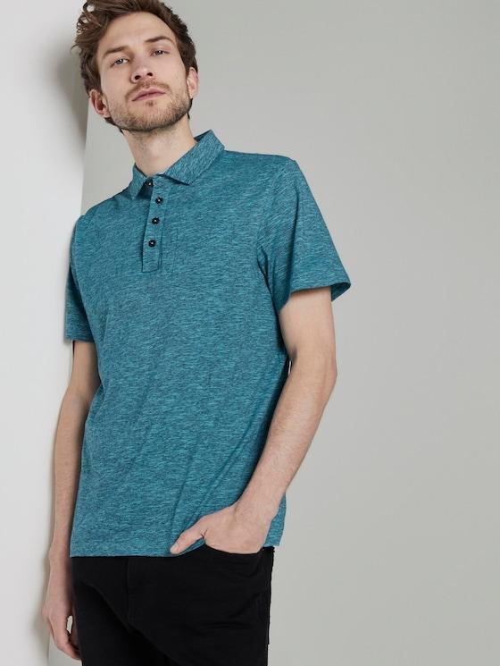 Gestreiftes Poloshirt - Männer - teal fine stripe - 5 - TOM TAILOR
