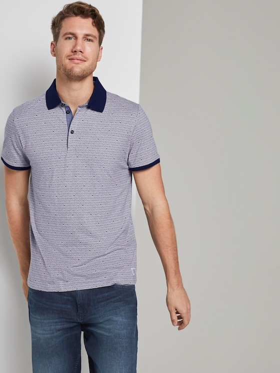 Gemustertes Poloshirt - Männer - light grey stripe - 5 - TOM TAILOR
