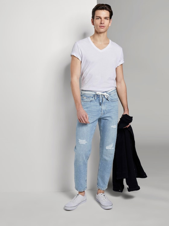 Loose Fit Jeans im 90er-Look - Männer - Tinted Blue Denim - 3 - TOM TAILOR Denim