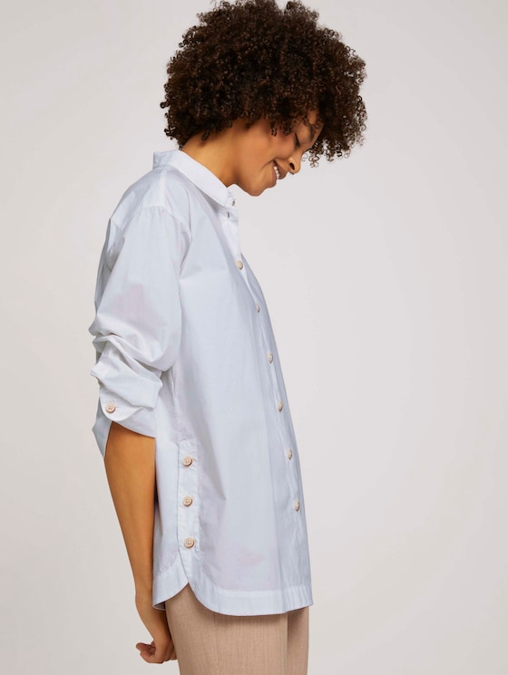 Blusenshirt mit Schlitzdetail - Frauen - White - 5 - Mine to five
