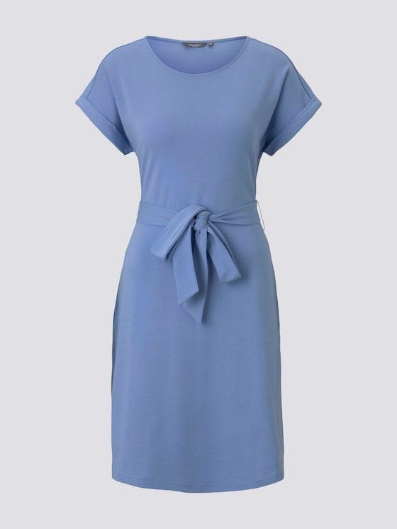 Jerseykleid mit Bindegürtel - Frauen - dreamy blue - 7 - Mine to five