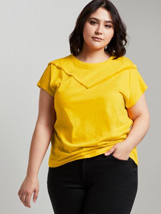T-Shirt mit Fransen-Detail - Frauen - deep golden yellow - 5 - My True Me