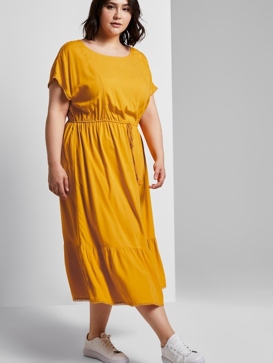 Sommerliches Kleid mit Häkel-Details - Frauen - deep golden yellow - 5 - My True Me