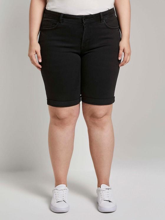 Slim-fit denim shorts - Women - used mid stone black denim - 1 - My True Me