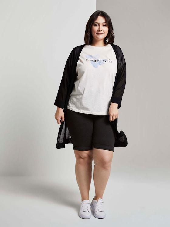 Curvy - Slim Fit Jeans-Shorts - Frauen - used mid stone black denim - 3 - My True Me