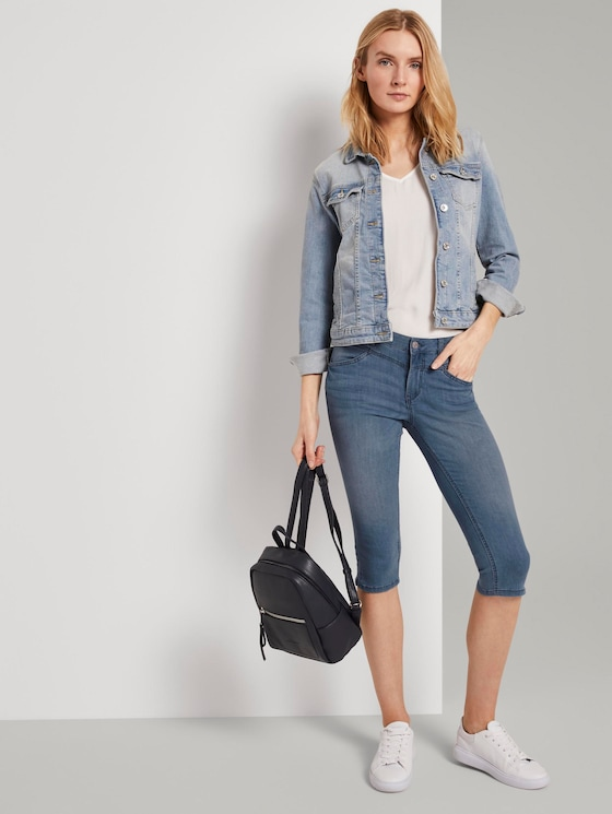 Alexa Slim Capri-Jeans - Frauen - light stone wash denim - 3 - TOM TAILOR