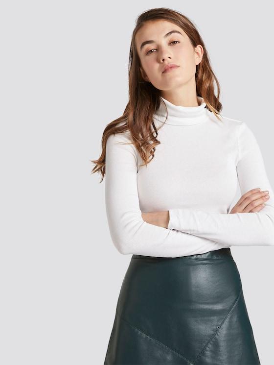hemd met lange mouwen en nektrui - Vrouwen - Off White - 5 - TOM TAILOR Denim