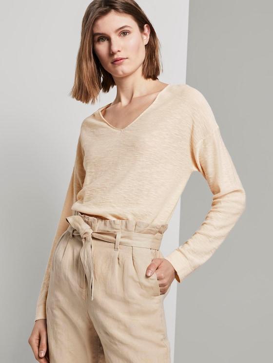 Pullover mit Seitenschlitzen - Frauen - soft vanilla - 5 - TOM TAILOR