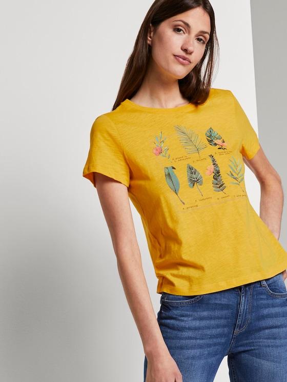 T-Shirt mit Collagen-Print - Frauen - Sunflower - 5 - TOM TAILOR
