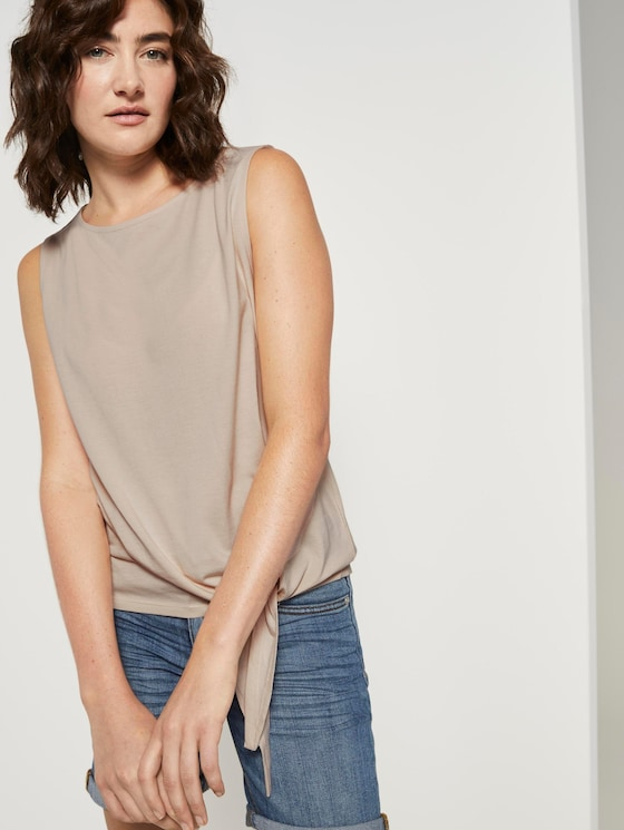 Top with knot details - Women - soft vanilla - 5 - TOM TAILOR