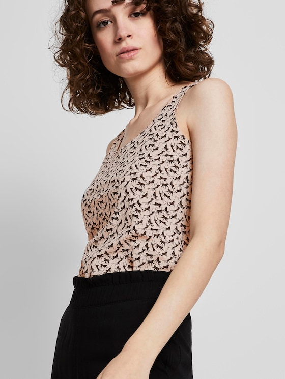 Jersey top - Women - vanilla monkey small design - 5 - TOM TAILOR