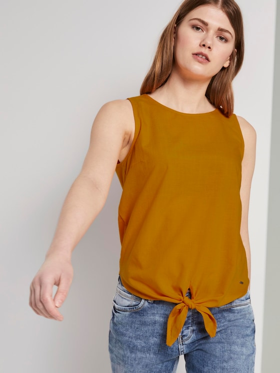 Top met knoopdetail - Vrouwen - orange yellow - 5 - TOM TAILOR Denim