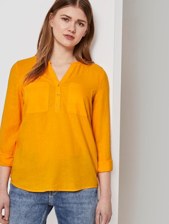 Tunika mit Turn-Ups - Frauen - orange yellow - 5 - TOM TAILOR Denim