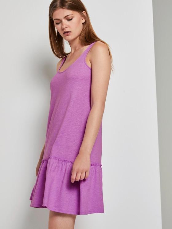 Kleid mit Rücken-Detail und Rüschung - Frauen - light berry - 5 - TOM TAILOR Denim