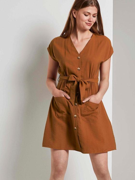 Dress in a utility style - Women - mango brown - 5 - TOM TAILOR Denim