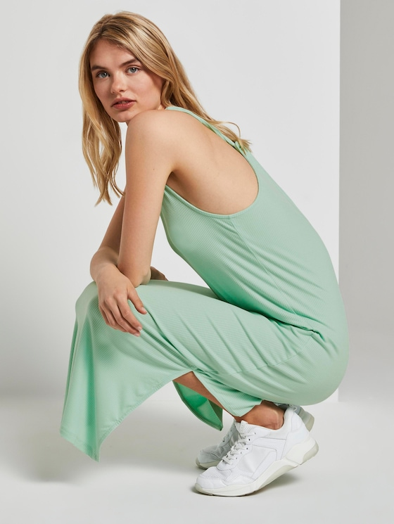 Ripp-Midikleid mit Rückendetail - Frauen - fresh mint - 5 - TOM TAILOR Denim