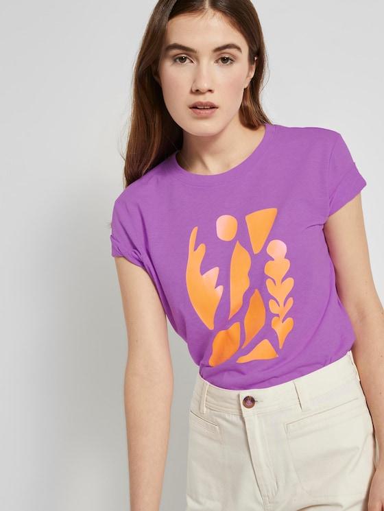 T-Shirt mit Print - Frauen - light berry - 5 - TOM TAILOR Denim