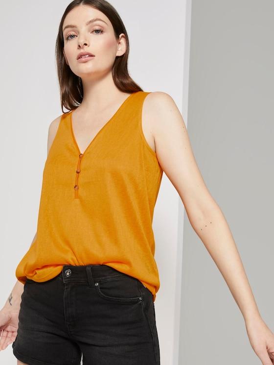 Fließendes Top mit Knöpfen - Frauen - orange yellow - 5 - TOM TAILOR Denim