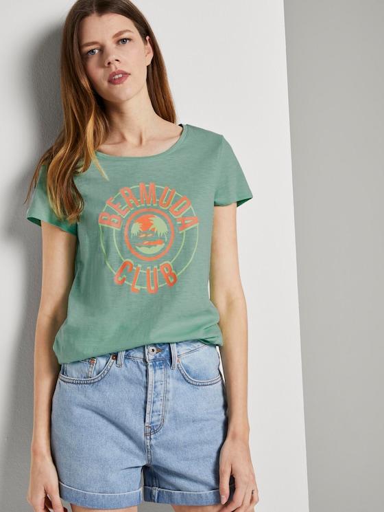 T-Shirt mit platziertem Print - Frauen - fresh mint - 5 - TOM TAILOR Denim