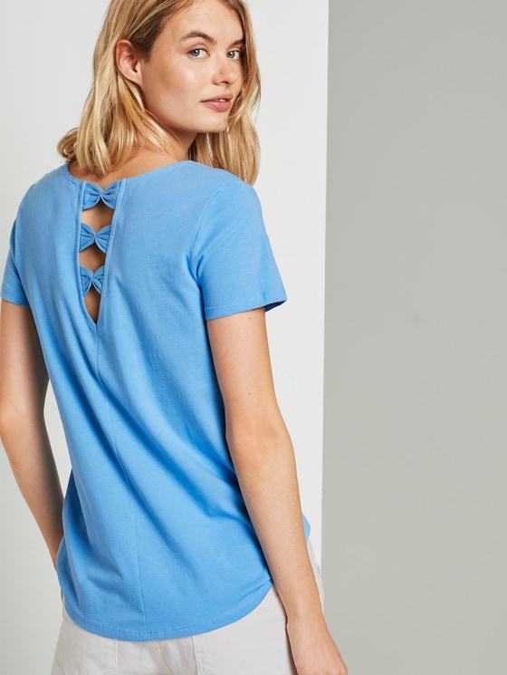 T-Shirt with back details - Women - fresh mid blue - 5 - TOM TAILOR Denim