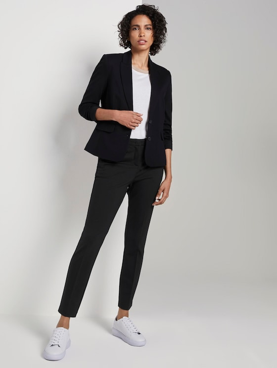 Classic trousers, ankle length - Women - Deep Black - 3 - Mine to five