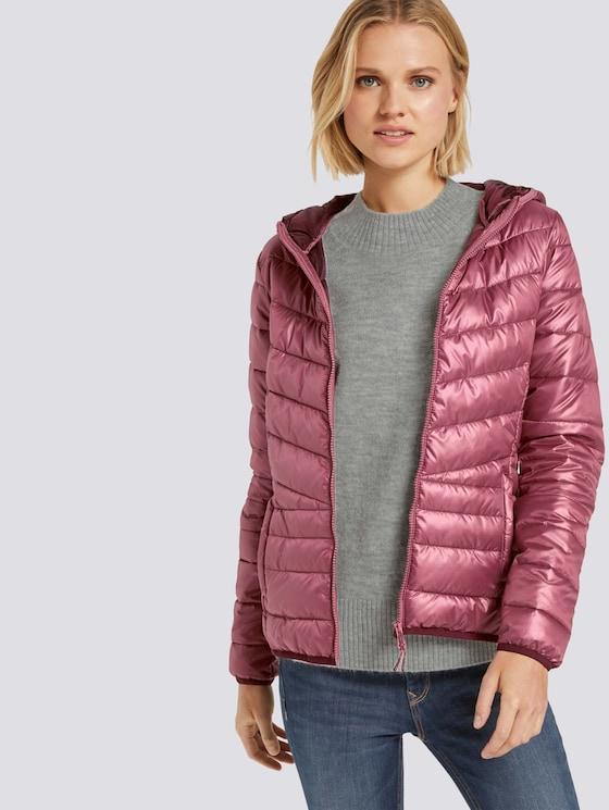 Lightweight quilted jacket with a hood - Women - renaissance rose - 5 - TOM TAILOR Denim