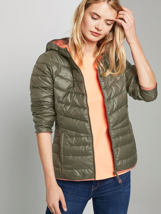 Lightweight quilted jacket with a hood - Women - deep olive green - 5 - TOM TAILOR Denim