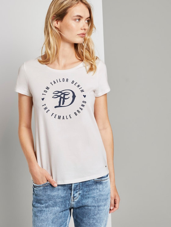 T-shirt in a twin pack - Women - Off White - 5 - TOM TAILOR Denim